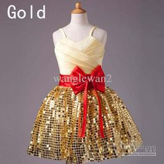 Wholesale Girl Dress - New Sequins Strip Flower Girl Dress $37.5 | DHgate
