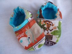 Newborn Baby Shoes Booties Boy   Jungle Animals by JaclynsDesigns, $10.00