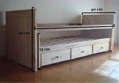 Kids Bedroom Designs, Bunk Bed Designs, Bedroom Bed Design, Girls Bedroom, Bedroom Decor, Bed With Underbed, Day Bed Frame, Temporary Room Dividers, Home Decor Shelves