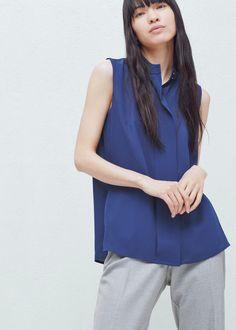 Струящаяся блузка    MANGO МАНГО