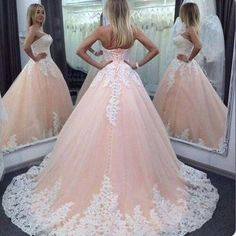 Vintage Quinceanera Ball Gown Dresses Sweetheart Pink Lace Appliques Tulle Long Sweet 16 Cheap Party Prom Gowns Modest Plus Evening