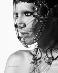 Zana Bayne Clear Pvc Face Mask. Love the makeup too.