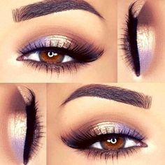 Lavender eye look
