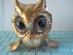 Freeman McFarlin Baby Owl gold Rare Mid by BelindasStyleShop, $58.00