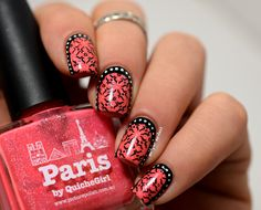 ruffian with Paris by Picture Polish #coral #nailart - bellashoot.com