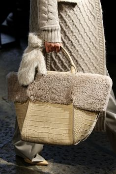 Gucci's triple threat, a Sportmax belt bag, and more. Fur Bag, Latest Bags, Milan Fashion Weeks, Leather Design, Max Mara, Straw Bag, How To Wear, Fashion Trends, Leather Bags