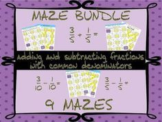 Adding and subtracting fractions with common denominators maze bundle mazes) Tes Resources, Teaching Resources, Maze Worksheet, Assessment For Learning, Adding And Subtracting Fractions, Christmas Jokes, Halloween Math, Fun Activities, Number