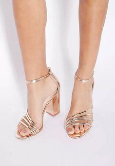ead2a21f5 Adeline Metallic block Heels. Namshi. Dubai ShoppingOnline ...