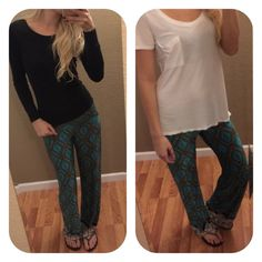 Palazzo Pants ❤️ Cute & Comfy! Causal Palazzo Pants in Teal ❤️ Light weight with a great stretch 100% Polyester •Model is 5'9 wearing a Small•Available in sizes S M L ***PLEASE DO NOT PURCHASE THIS LISTING*** MESSAGE BELOW WITH YOUR SIZE AND I WILL MAKE A PERSONAL LISTING FOR YOU ASAP!! If you have any questions, please feel free to ask  #PoshOnLadies! Bohemian Sea Pants