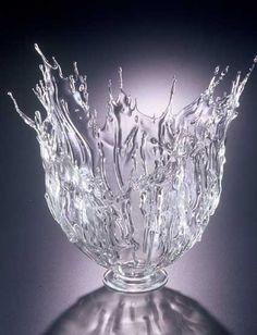 """*Art Glass - """"Splash"""" (flameworked glass) by Sally Prasch"""