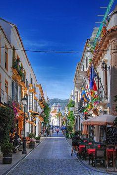 Marbella, Spain -- alfresco dining along narrow streets is love❤