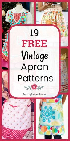 beginner sewing projects Free Vintage Apron patterns, diy projects, and sewing tutorials. Full and half styles to sew, fun ruffled styles with and without pockets. Apron Pattern Free, Vintage Apron Pattern, Aprons Vintage, Sewing Patterns Free, Free Sewing, Retro Apron Patterns, Vintage Sewing, Dress Patterns, Crochet Patterns