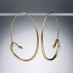 Gabriella Kiss- Large Snake Hoops