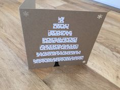 Hand made Christmas card tree design by CardsByAl on Etsy