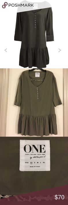 One Teaspoon Rango dress One Teaspoon Rango dress in khaki. NWT, size XS. Designed to fit loosely featuring a drop waist for a flattering fit. Snap closure detail on chest and wrists. Machine wash cold. 💰 reasonable offers considered through offer button One Teaspoon Dresses Midi