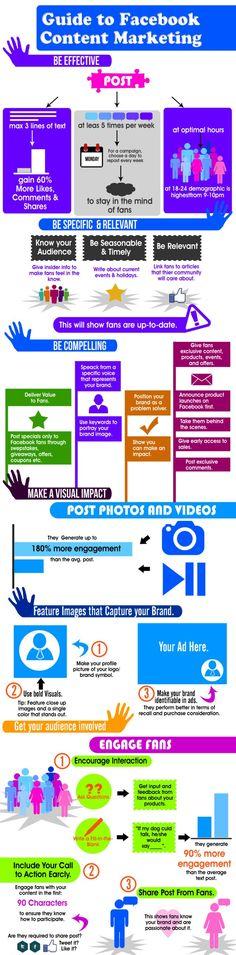 Guide to FaceBook content marketing #infografia #infographic #socialmedia