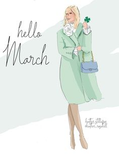 · · · · Hello March 🍀 time for spring and new beginnings. hope it's a LUCKY one! Hello Weekend, Bon Weekend, March Month, New Month, You Go Girl, Spring Has Sprung, Illustrations, Months In A Year, Cute Illustration