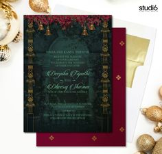 Picture from Creative House Photo Gallery on WedMeGood. Browse more such photos & get inspiration for your wedding Creative Wedding Invitations, Indian Wedding Invitations, Wedding Invitation Templates, Custom Invitations, Wedding Stationery, Modern Invitations, Marriage Invitation Card, Invitation Card Design, Invitation Cards
