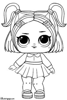 Lol Lil Sisters Coloring Pages from Lol Doll Coloring Pages Printable. Toys LOL are treading the peak of popularity among children throughout the world. Even though the doll inside the LOL Surprise ball is not exactly rev. Baby Coloring Pages, Unicorn Coloring Pages, Cartoon Coloring Pages, Coloring Sheets, Coloring Books, Adult Coloring, Free Coloring, Lol Dolls, Cute Drawings