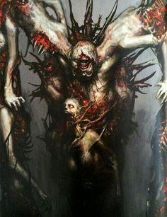 just plain creepy Dead Space Necromorph Boss Zombies, Dead Space, Monster Design, Monster Art, Arte Horror, Horror Art, Creepy Art, Scary, Dark Fantasy