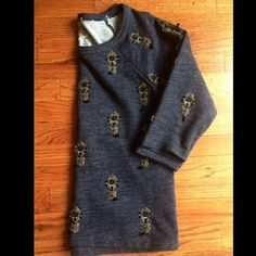 "Selling this ""JCrew beaded sweatshirt"" in my Poshmark closet! My username is: devynmarie1. #shopmycloset #poshmark #fashion #shopping #style #forsale #J. Crew #Tops"