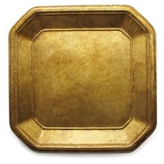 """Check out this item at One Kings Lane! Gold Ancient Square Charger 13"""""""
