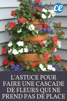 L'Astuce Pour Faire une Cascade de Fleurs Qui Ne Prend Pas de Place.