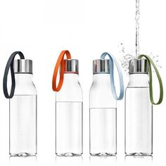 gorgeous! i love the muted colors - typically water bottles have such garrish colors. via swiss-miss.com