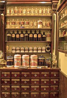 It would be wonderful to include apothecary jars in the kitchen. Herbs and spices could be stored in the small ones with pretty labels (bigstock_Old_Laboratory_1990547)