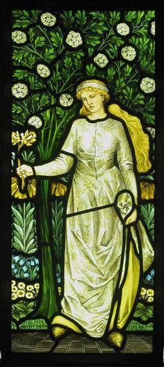 William Morris Four Seasons Windows by Thorskegga, via Flickr