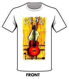 Cebu - Philippines Guitar Sinulog, Personalized Shirts, Cebu, Heat Transfer, Philippines, Shirt Designs, Guitar, Mens Tops, T Shirt
