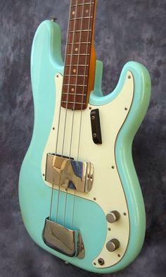 Fender precision 1962, seafoam green