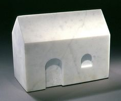 Louise Bourgeois, House, 1994  Marble reduces architecture, an art that has been rendered massively complex over modern time, into something simple, timeless, and pure. maybe the ideal concepts for a house