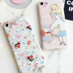 New Relief Emboss Phone Case For iPhone 7 7 Plus Colorful Cartoon Figure Alice's Adventures in Wonderland Minnie -090110