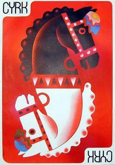 Cyrk Polish Original Vintage Circus Poster C 1975 Chess Horse Heads by Ruminski | eBay