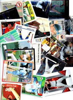 160 Mixed Sports cards rookies inserts and stars with Mike Schmidt Rod Carew Derek Jeter Patrick Roy Dan Marino and more by AAAVINTAGEFINDS on Etsy