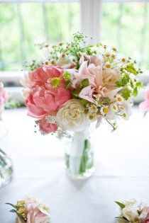 Bridal Bouquet Inspiration Holly Flora peonies dahlias ranunculus and chamomile Wedding Flower Arrangements, Floral Arrangements, Wedding Bouquets, Wedding Flowers, Bridesmaid Bouquets, Wedding Colors, Woodsy Wedding, Wedding Events, Dream Wedding
