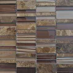 shop for rapids pattern coconut birch glass and stone tile at tilebarcom - Slate Castle Ideas