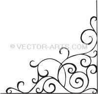 Vector Clip Art Design (Vinyl-Ready): ornamental corner