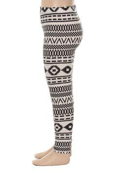 Kids Black and White Print Leggings by SweetDesignsApparel on Etsy