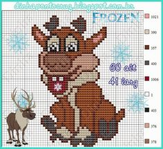 Sven - Disney Frozen pattern by Dinha Ponto Cruz