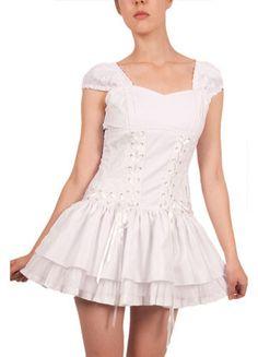 Lolita White Corset Dress