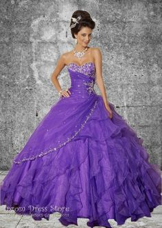 Ball Gown Strapless Neckline Floor length Sleeveless Organza Quinceanera Dress with Beading (SAS376) [SAS376] - US$189.00 : Prom Dresses and Quinceanera Dresses - Iprom Dress Store, Iprom Dress Store