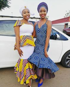 African print dresses for weddings in South african - shweshwe ShweShwe 1 African Men Fashion, African Fashion Dresses, African Women, Africa Fashion, Fashion Outfits, Fashion Trends, Best African Dresses, African Print Dresses, African Wedding Attire