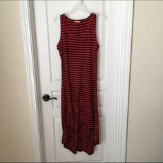 Cotton striped dress Racer back sundress, worn once. Dresses High Low