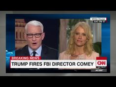 CNN's Anderson Cooper rolled his eyes at KellyAnne Conway when she tried to give 'alternative facts' about why President Trump fired FBI Director James Comey. The video is absolutely priceless. Anderson Cooper, Jeff Sessions, Fbi Director, James Comey, Eye Roll, Entertainment Weekly, My Tumblr, His Eyes, New Trends