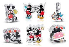Charms Disney Love: pingentes da Vivara no estilo Pandora com Mickey e Minnie apaixonados!