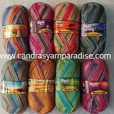 Opal Sunrise 4 ply fingering weight sock yarn