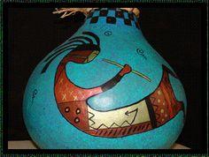 Gourds with Kokopelli Art
