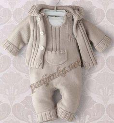 Baby Boy Knitting Patterns, Knitting For Kids, Baby Patterns, Knit Patterns, Knitting Ideas, Crochet Baby Pants, Knitted Baby Clothes, Knitted Romper, Baby Knits